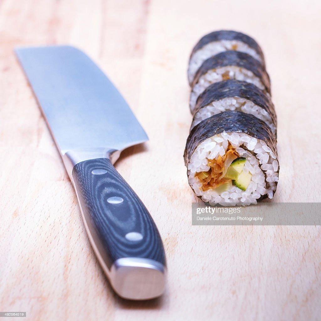 Sushi Maki cut : Stock Photo