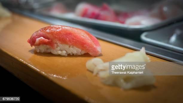 Sushi nigiri on the counter bar