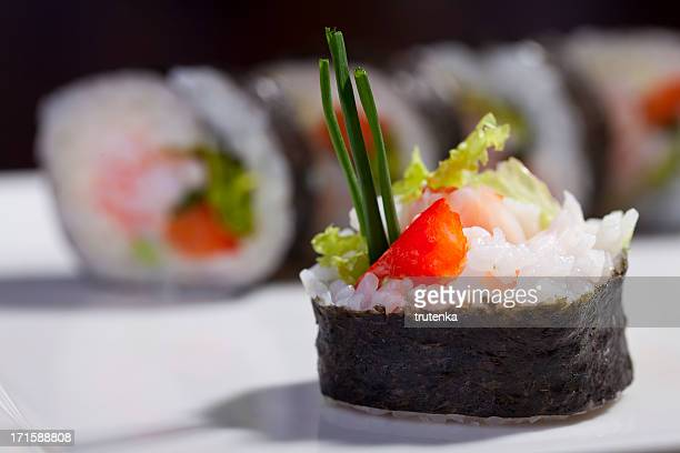 sushi - maki sushi stock pictures, royalty-free photos & images