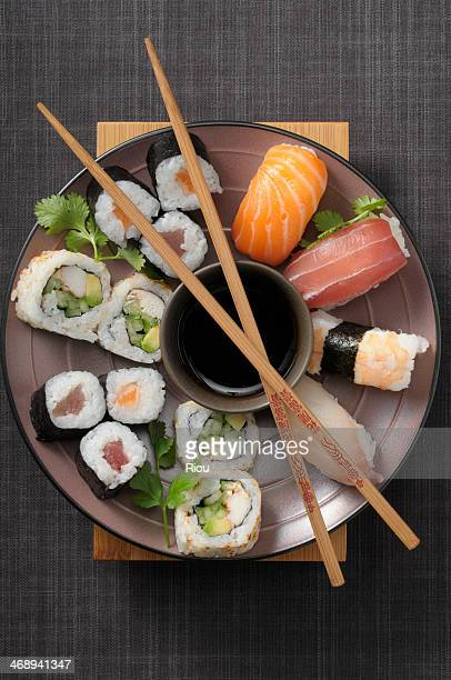sushi - japanese food stock pictures, royalty-free photos & images