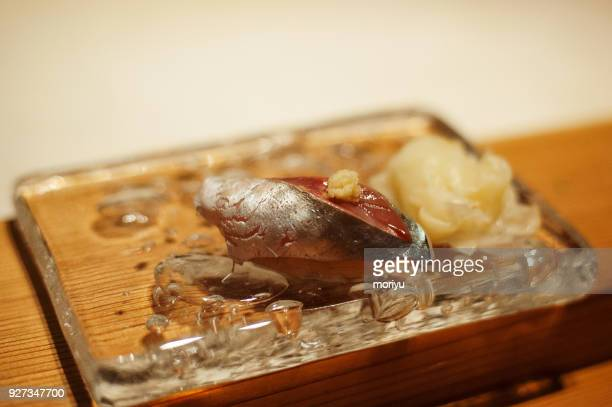 sushi - jack fish stock pictures, royalty-free photos & images