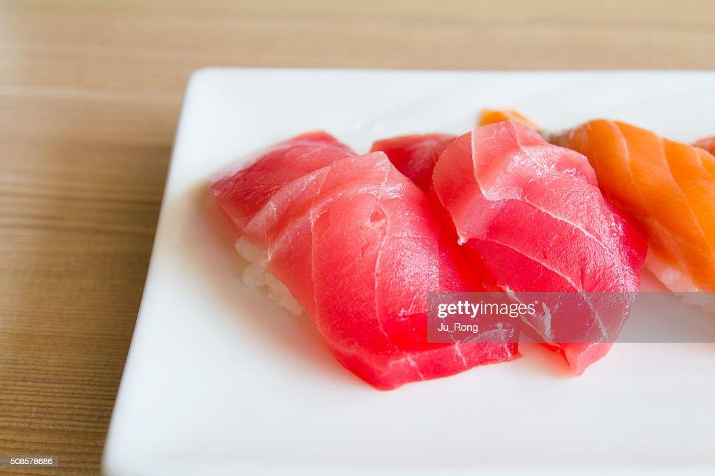 Sushi plate : Stock Photo