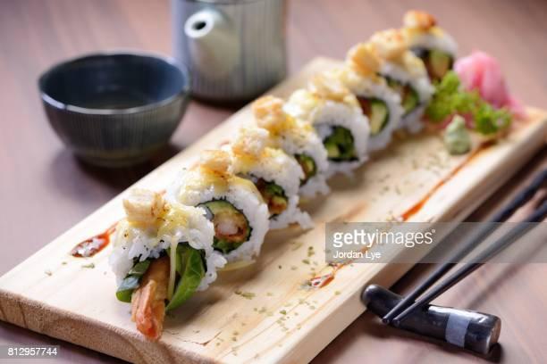 Sushi prawn tempura