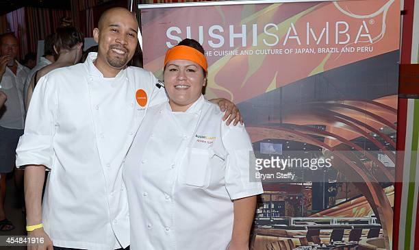 Sushi Samba Chef Allen Watkins and Sushi Samba Executive Chef Alyssa Travi attend the Las Vegas Food and Wine Festival at the Red Rock Casino Resort...