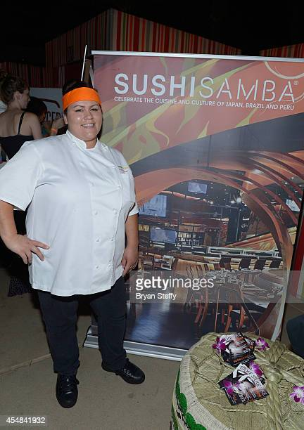 Sushi Samba Executive Chef Alyssa Travi attends the Las Vegas Food and Wine Festival at the Red Rock Casino Resort and Spa on September 6 2014 in Las...