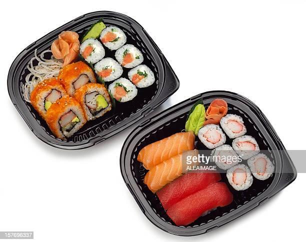 sushi para llevar - sashimi fotografías e imágenes de stock