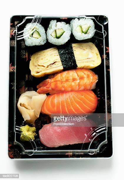 sushi to go - pickled ginger stock pictures, royalty-free photos & images
