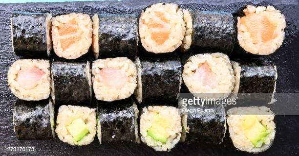 sushi variation - puletto diego stock pictures, royalty-free photos & images