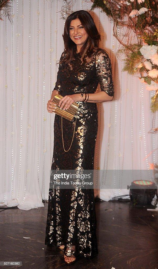 Sushmita Sen at Bipasha Basu and Karan Singh Grovers wedding reception ceremony at St Regis Hotel in Mumbai