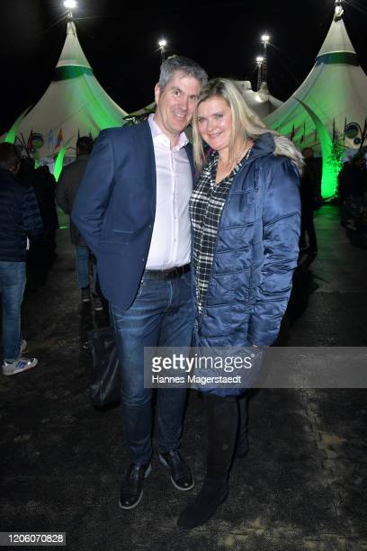 Susi Erdmann and her husband Thomas Bruns attend the premiere of Totem by Cirque du Soleil at Theresienwiese on February 13 2020 in Munich Germany
