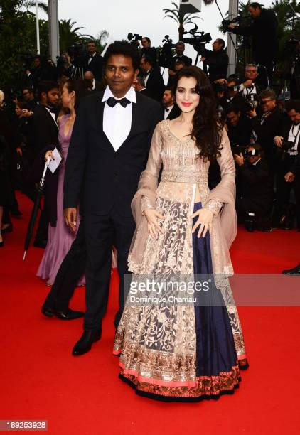 Susi Ganeshan and Ameesha Patel attend the Premiere of 'Shortcut Romeo' during The 66th Annual Cannes Film Festival at the Palais des Festivals on...