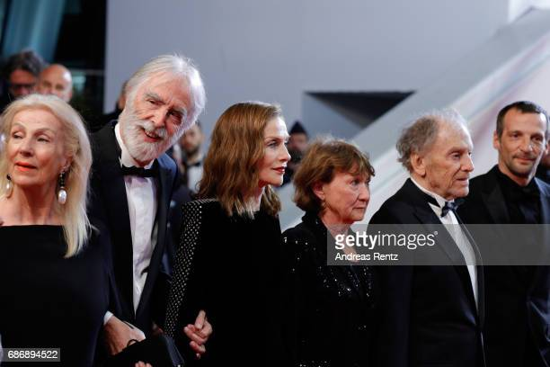 "Susi Haneke, Michael Haneke, Isabelle Huppert, Marianne Hoepfner, Jean-Louis Trintignant and Mathieu Kassovitz attend the ""Happy End"" screening..."