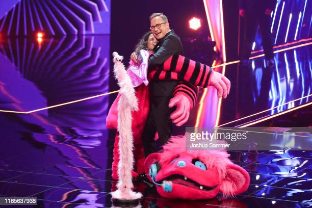 Susi Kentikian and Matthias Opdenhoevel at the The Masked Singer finals at Coloneum on August 01 2019 in Cologne Germany