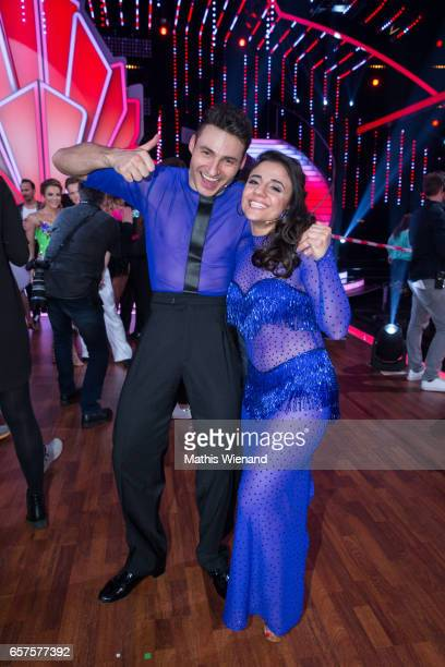 Susi Kentikian and Robert Beitsch perform on stage during the 2nd show of the tenth season of the television competition 'Let's Dance' on March 24...