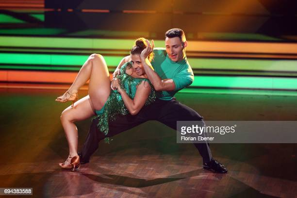 Susi Kentikian and Robert Beitsch perform on stage during the final show of the tenth season of the television competition 'Let's Dance' on June 9...