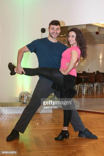 Susi Kentikian and Robert Beitsch pose at a photo call for the tenth season of the television competition 'Let's Dance' on March 8 2017 in Hamburg...