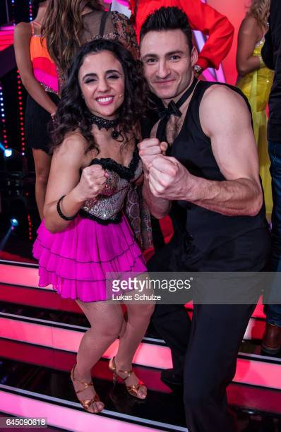 Susi Kentikian and Robert Breitsch perform on stage after the preshow 'Wer tanzt mit wem Die grosse Kennenlernshow' for the television competition...