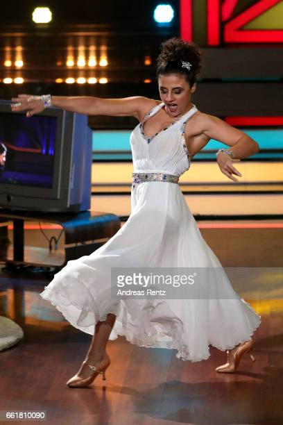 Susi Kentikian performs on stage during the 3rd show of the tenth season of the television competition 'Let's Dance' on March 31 2017 in Cologne...
