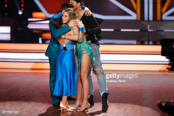 Susi Kentikian Robert Beitsch AnnKathrin Broemmel and Sergiu Luca are seen on staghe during the 5th show of the tenth season of the television...