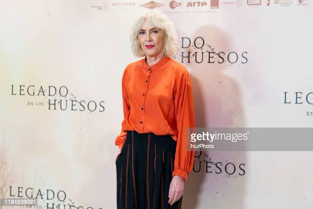 Susi Sanchez attends the 'Legado en los huesos' photocall at Hotel Urso on November 25 2019 in Madrid Spain