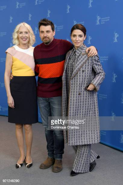 Susi Sanchez, Ramon Salazar and Barbara Lennie pose at the 'Sunday's Illness' photo call during the 68th Berlinale International Film Festival Berlin...