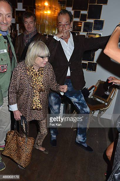 Susi Wyss and Emmanuel de Brantes attend the 'Moustache Party' At the Tres Honore Club on September 11 2014 in Paris France