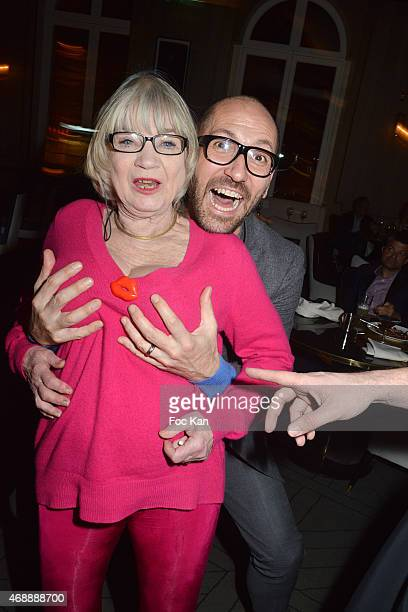 Susi Wyss and Emmanuel d'Orazzio attend The Thomas Dutronc Friends Private Concert At the Victoria on April 7 2015 in Paris France