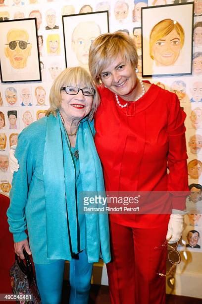 Susi Wyss and Princess Gloria von Thurn und Taxis attend the 'Voila Cherie' Gloria von Thurn und Taxis Exhibition opening party at Galerie Passebon...