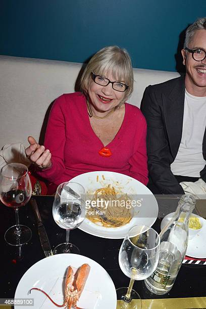 Susi Wyss and Stephane Luminium attend The Thomas Dutronc Friends Private Concert At the Victoria on April 7 2015 in Paris France