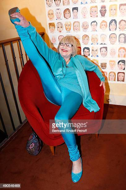 Susi Wyss attends the 'Voila Cherie' Gloria von Thurn und Taxis Exhibition opening party at Galerie Passebon on May 14 2014 in Paris France