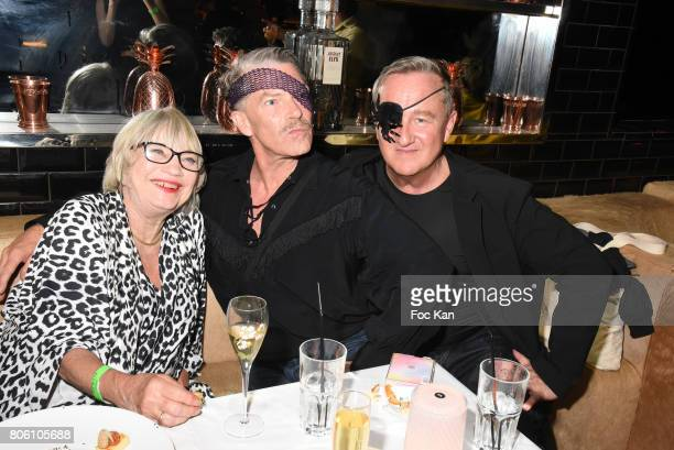 Susi WyssÊ Olivier VedrineÊand Olivier Guillemin attend the Facade Magazine Dinner at VIP Room on July 2 2017 in Paris France