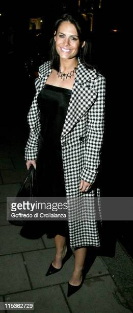 Susie Amy during Tiffany Co Christmas Party at Brooke Street in London Great Britain