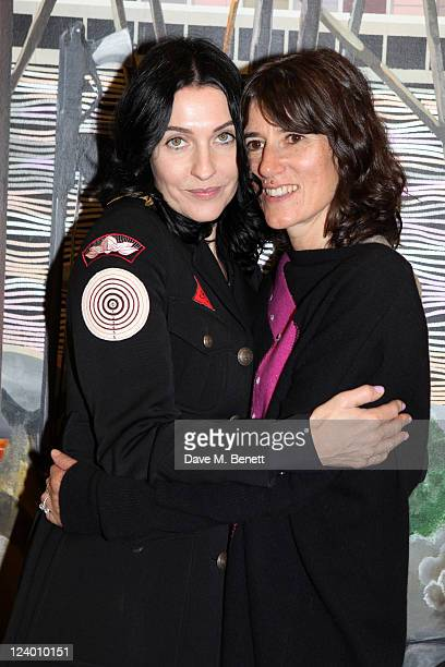 Susie Bick and Bella Freud attend the debut screening of a short film collaboration between Bella Freud and director Martina Amati at Max Wigram...