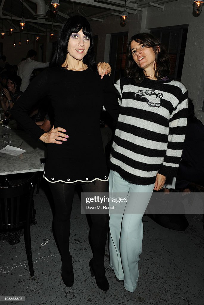 Susie Bick and Bella Freud attend the launch party for Bella Freud and Susie Bick's first design collaboration, at Bistrotheque on September 6, 2010 in London, England.