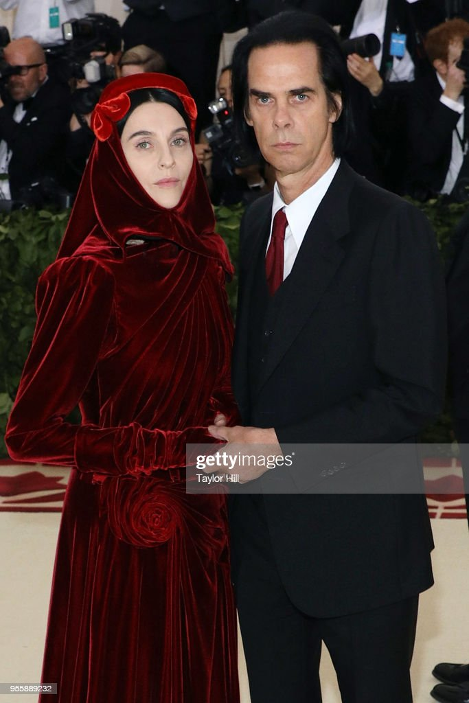 Susie Bick and Nick Cave attend 'Heavenly Bodies: Fashion & the Catholic Imagination', the 2018 Costume Institute Benefit at Metropolitan Museum of Art on May 7, 2018 in New York City.