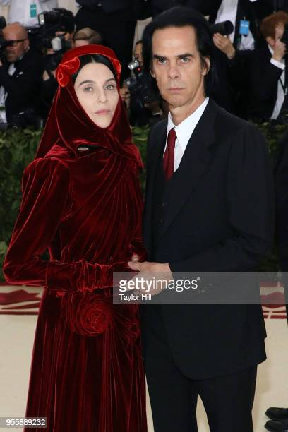 Susie Bick and Nick Cave attend Heavenly Bodies Fashion the Catholic Imagination the 2018 Costume Institute Benefit at Metropolitan Museum of Art on...