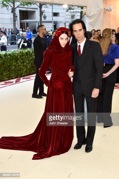 Susie Bick and Nick Cave attend the Heavenly Bodies Fashion The Catholic Imagination Costume Institute Gala at The Metropolitan Museum of Art on May...
