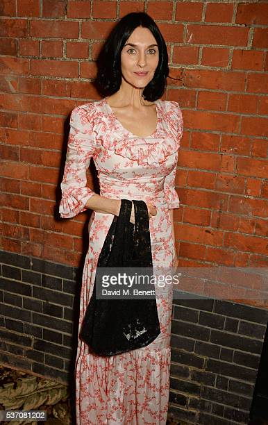 Susie Bick attends the launch of the Kate Moss For Equipment x NETAPORTER collection at The Chiltern Firehouse on June 1 2016 in London England