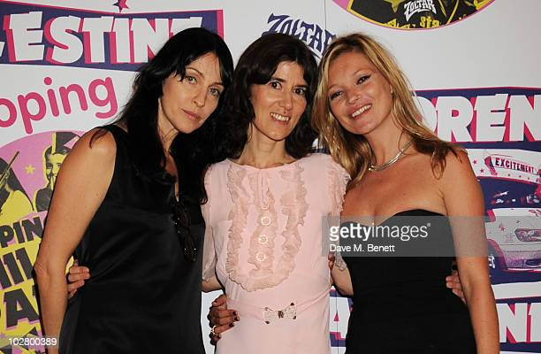 Susie Bick Bella Freud and Kate Moss attend a benefit evening for The Hoping Foundation on July 10 2010 in London England