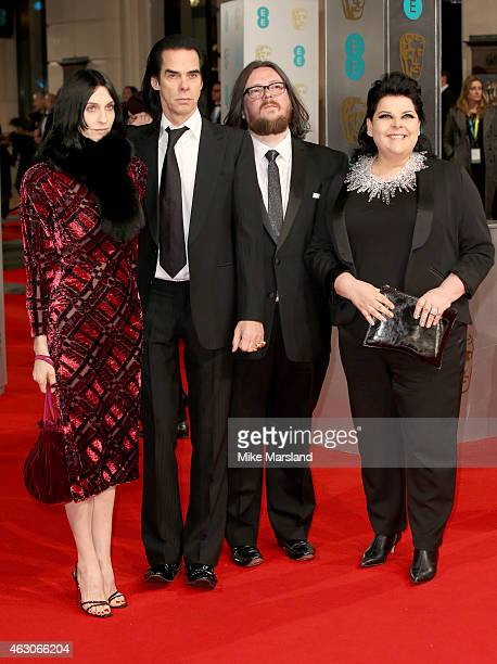 Susie Bick, Nick Cave, Iain Forsyth and Jane Pollard attend the EE British Academy Film Awards at The Royal Opera House on February 8, 2015 in...
