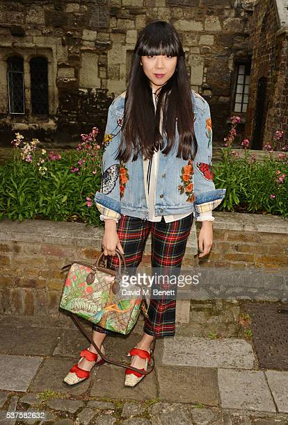 Susie Bubble attends the Gucci Cruise 2017 fashion show at the Cloisters of Westminster Abbey on June 2 2016 in London England
