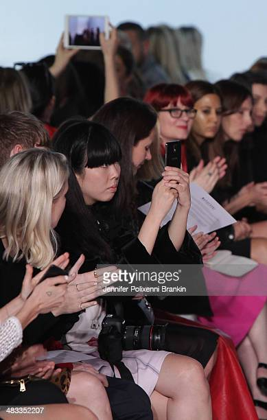 Susie Bubble sits front row at the Maticevski show during MercedesBenz Fashion Week Australia 2014 at Carriageworks on April 8 2014 in Sydney...