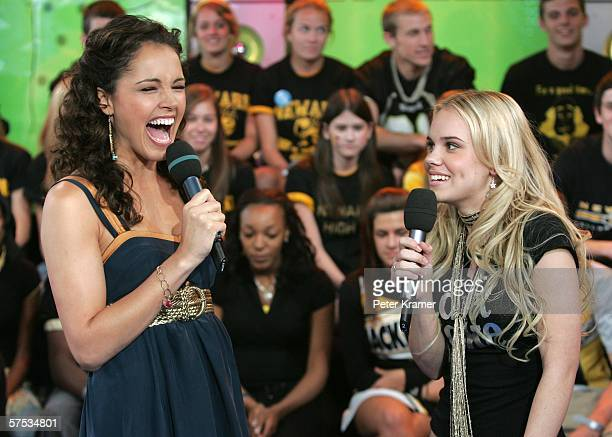 Susie Castillo and Actress Cheyenne Kimball make an appearance on MTV's Total Request Live on May 4, 2006 in New York City.
