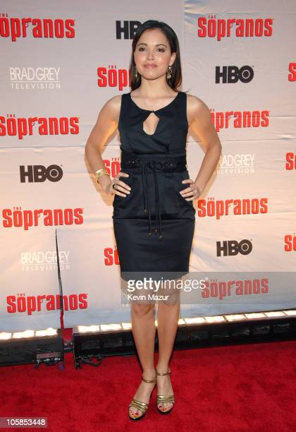 """Susie Castillo during """"The Sopranos"""" Final Season World Premiere - Red Carpet at Radio City Music Hall in New York City, New York, United States."""