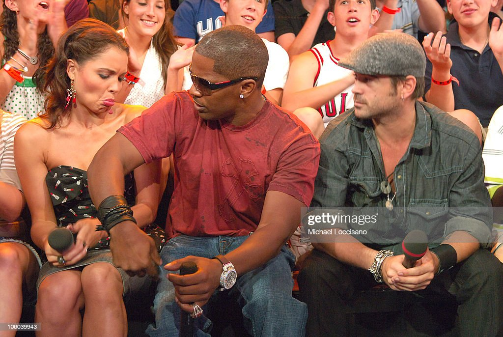 "Jamie Foxx and Colin Farrell Visit MTV's ""TRL"" - July 24, 2006"