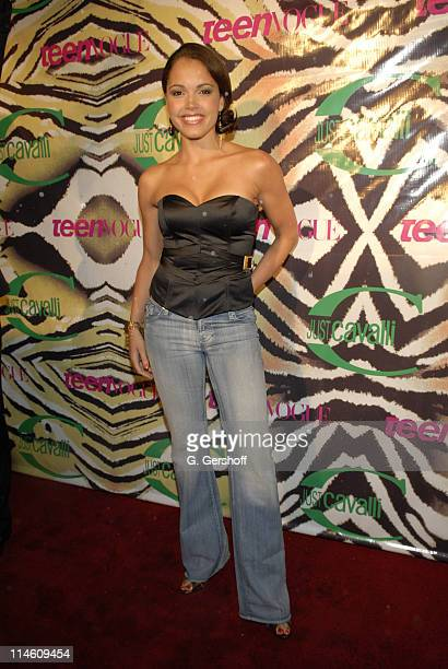 Susie Castillo MTV VJ during Just Cavalli and Teen Vogue Host Fashion Fete To Celebrate Summer May 3 2006 at The Manor in New York City New York...