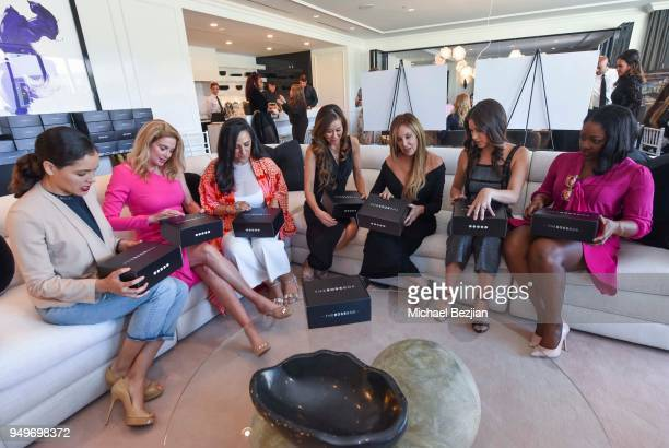 Susie Castillo Penny DavidiBorsuk Serena Poon Cindy Cowan Miss USA Nia SanchezÊ and Vivian Nweze attend H Club Los Angeles Women of Influence High...