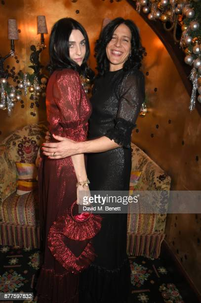 Susie Cave and Alex Adamson attend the Nick Cave The Bad Seeds x The Vampires Wife x Matchesfashioncom party at Loulou's on November 22 2017 in...