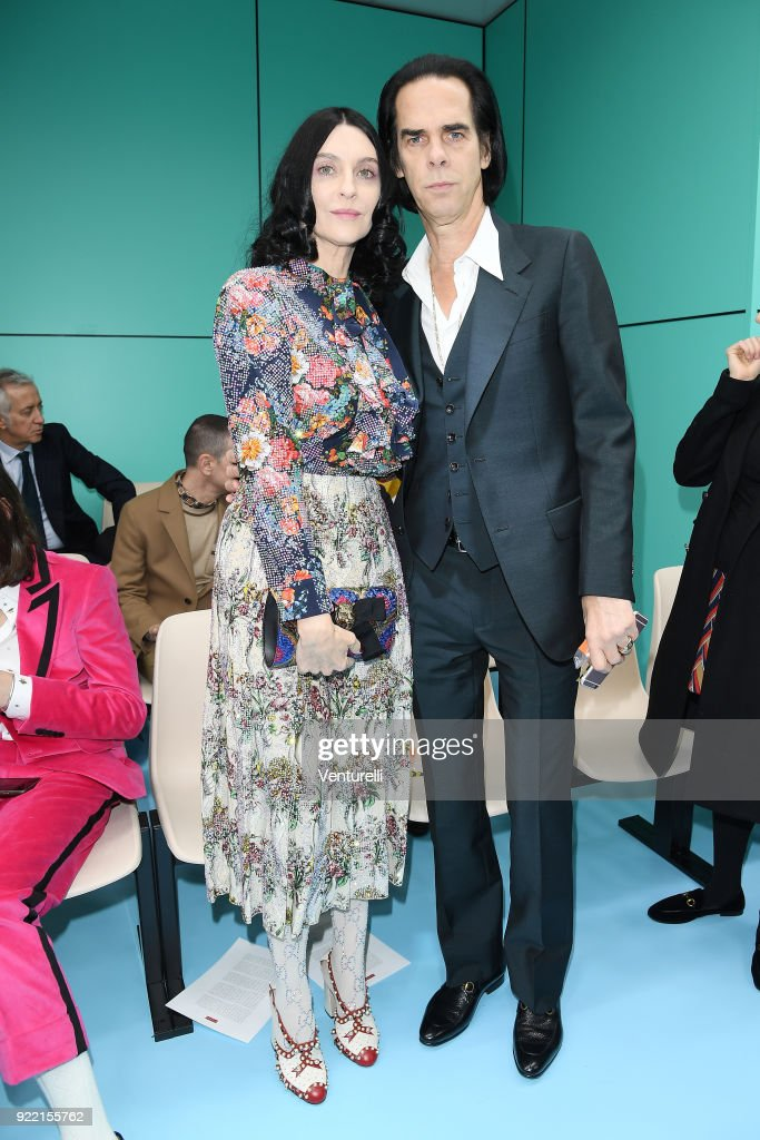 Susie Cave and Nick Cave attend the Gucci show during Milan Fashion Week Fall/Winter 2018/19 on February 21, 2018 in Milan, Italy.
