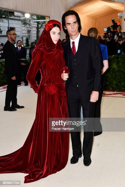 Susie Cave and Nick Cave attend the Heavenly Bodies Fashion The Catholic Imagination Costume Institute Gala at The Metropolitan Museum of Art on May...